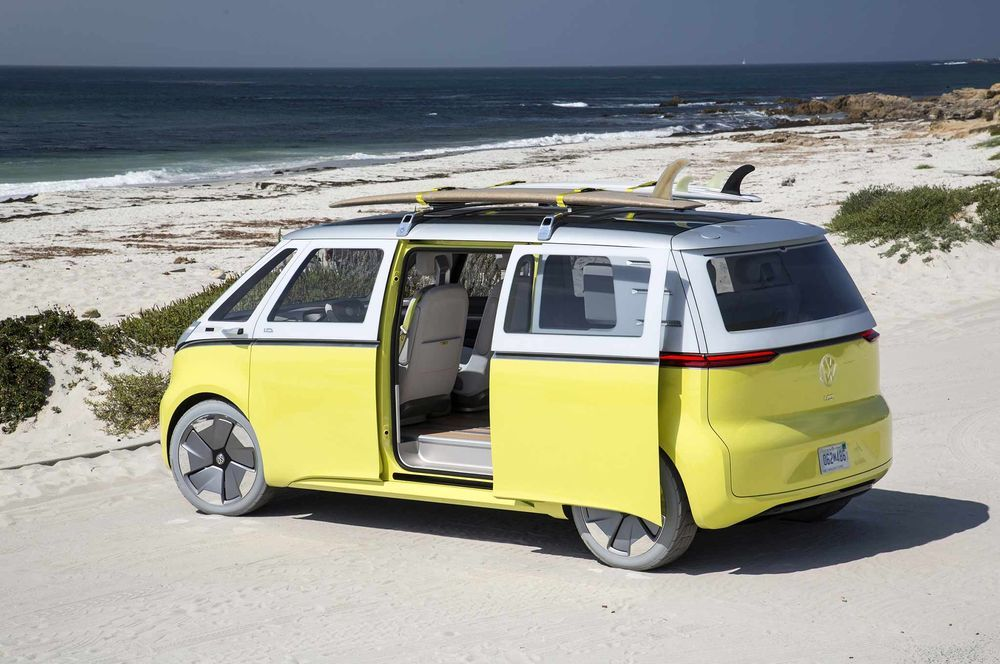 VW I.D. Buzz Cargo on tulekul