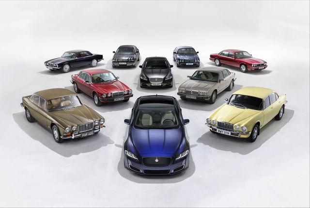 Jaguar XJ põlvkonnad. Foto: newspress.co.uk