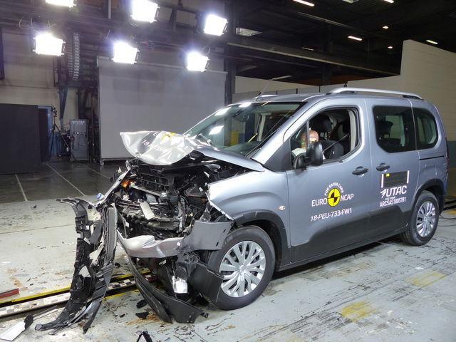 Opel Combo pärast avariitesti. Foto: Euro NCAP