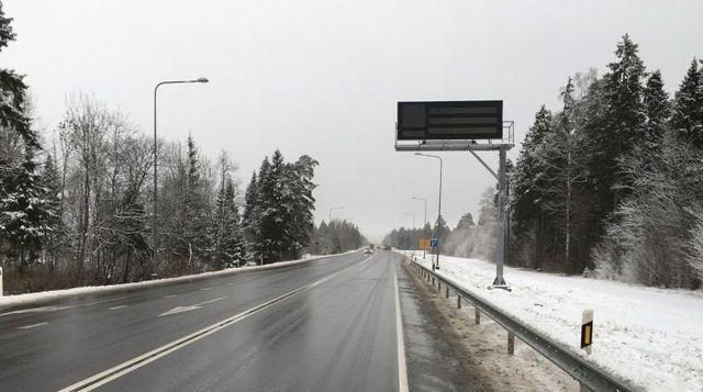 Elektroonilised muutuva teabega liiklusmärgid muutuvad kohustuslikeks. Foto: Maanteeamet