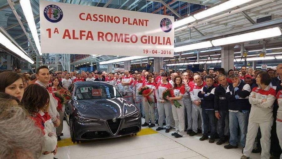 Esimene Alfa Romeo Giulia lahkus konveierilt