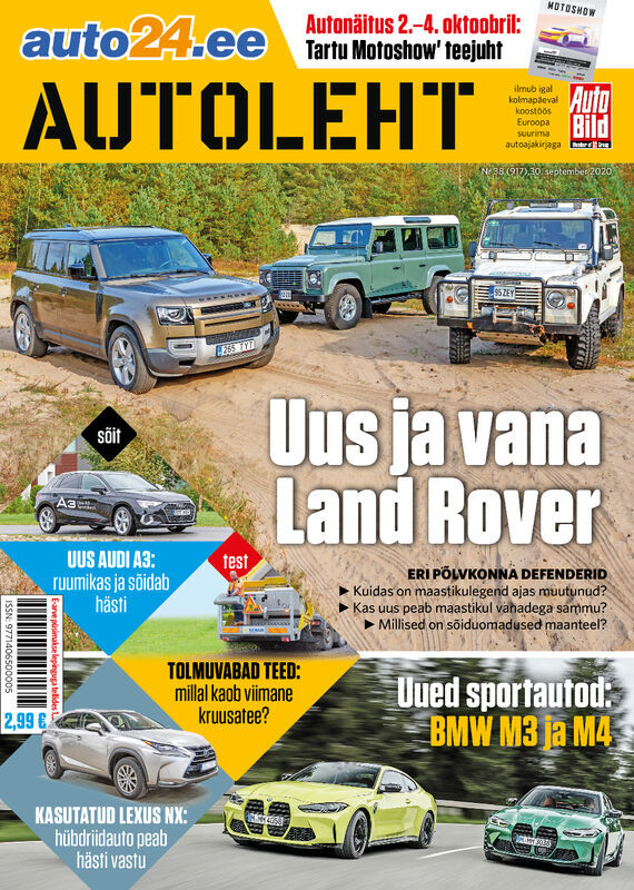 Autoleht, 30. september 2020