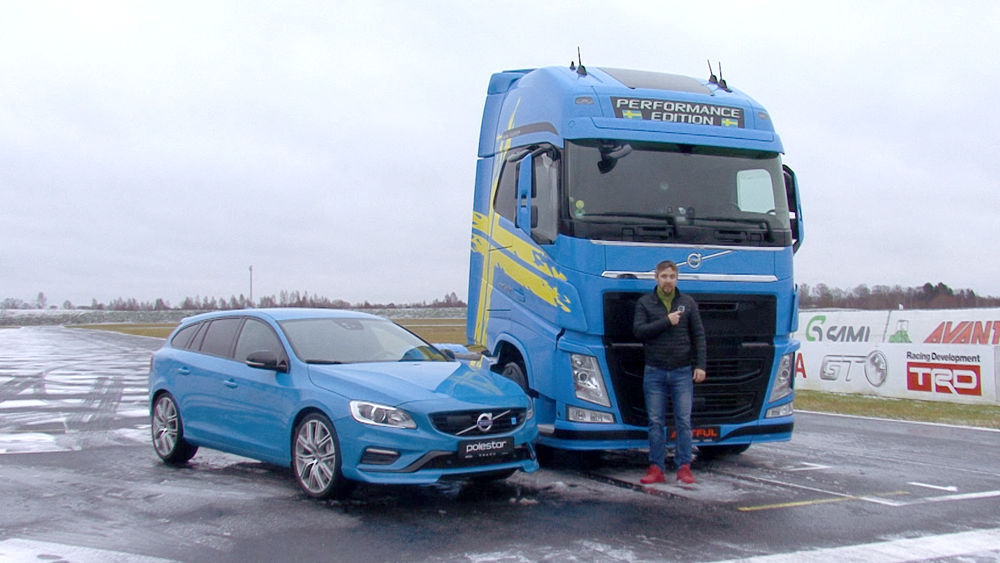 Truck Motors - Volvo V60 Polestar vs. Volvo FH Performance